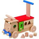 送料無料 乗用玩具 乗り物おもちゃ 手押し車 MOCCO カラフルバス 木のおもちゃ 木製 乗用おもちゃ 足けり 子供 出産祝い 日本 誕生日プレゼント 誕生日 男の子 男 女の子 女 1歳 2歳 3歳 02P28Sep16