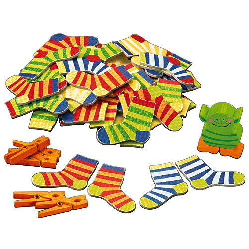 知育玩具 知育 ボードゲーム HABA ソックスモンスター 子供 おもちゃ ドイツ 誕生日…...:nicoly:10003541
