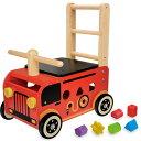 送料無料 アイムトイ ウォーカー&ライド 消防車 1歳 2歳 3歳 一歳 二歳 乗り物 木のおもちゃ