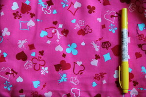 Like cute hand-made cotton fabric 50 cm peddle cotton