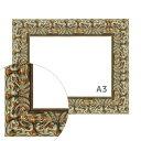 樂天商城 - 額縁eカスタムセット標準仕様 32-3004 作品厚約1mm〜約3mm、装飾的な金のポスターフレーム A3 (A3)