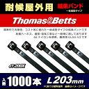 1000本セット 一体成型結束バンド 耐候 黒(屋外用) JT200X 安心の一流メーカー品 (203mm)
