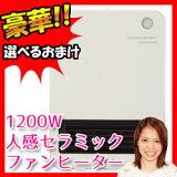 フィフティ社製 1200W人感セラミックファンヒーター FL-DTH1200 人感センサー付き暖房 セラミックヒーター トイレヒーター