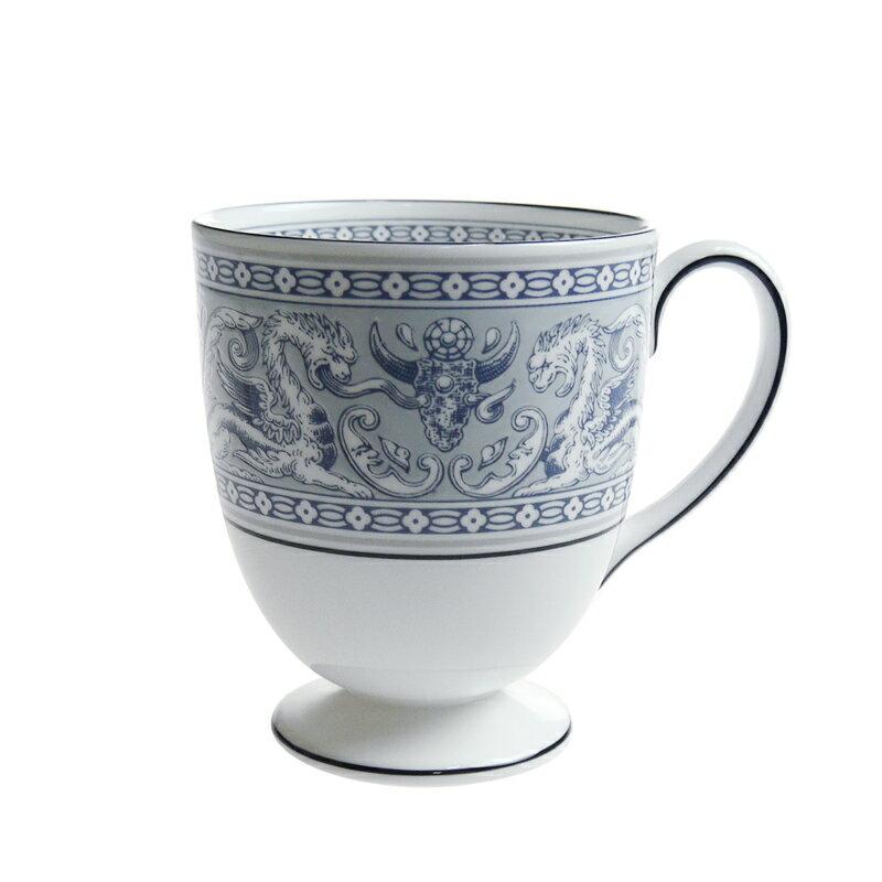 ウェッジウッド フロレンティーン インディゴ ホワイト マグカップ リー