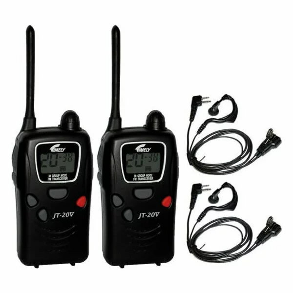 【2個組】 送料無料+お米+ポイント タイムリー JT-20V 特定小電力トランシーバー 免許不要 無線機 ハンディー無線機 トランシーバー2台・イヤホンマイク2個付きのセット JT-20II の後継機種 JT20V