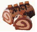 生チョコロールケーキ17cmギフトロールケーキチョコレートバースデーケーキ甘くない冷凍配送のみプレゼント誕生日ケーキポイント消化【北海道・九州配送2日間です】即日出荷あす楽チョコかわいいお返し送料無料ギフト