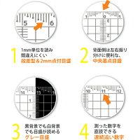 新潟精機【快段目盛**かいだんめもり**】カッティングアクリル方眼定規15cmCAGS-15KD