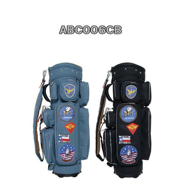 2015年モデル アーミーベースコレクションカートキャディバッグ PUレザー ABC006CBAIR FORCE BROWN/AIR FORCE BROWN BLUEエアフォースブラウン/ブルー【ポイント10倍】【送料無料】 黄色い(黄色い)