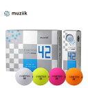 muziik CORTEO LITE 42 GOLFBALL ムジーク コルテオライト42 ゴルフボール 【1ダース】【飛ばせる軽量ボール】