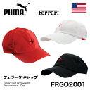 【即納】【USモデル】 PUMA×Ferrari/プーマ×フェラーリFRGO2001プーマ フェラーリ ゴルフキャップFerrari Golf Lightweight Performance Cap