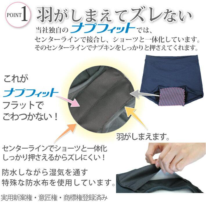 ナイト用生理用ショーツ/サニタリーショーツナイト用の紹介画像3