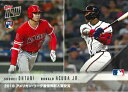 2018 TOPPS NOW KANJI EDITION #AW-3J 大谷翔平/RONALD ACUNA JR. 2018 MLB ROOKIE OF THE YEAR AWARD WINNERS