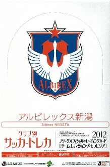■2012 sale ■ J League card team edition memo rabbi rear Albirex Niigata BOX