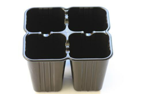カットパック(4連育苗ポット)黒 1200個入