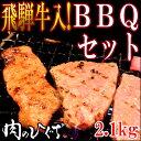 飛騨牛入バーベキューセット 焼肉2.1kg入牛肉/豚肉/鶏肉/カルビ/やきにく/セット/BBQ/肉/