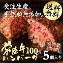 ハンバーグ 常陸牛100% 手作り 和牛 5個セット 無添加 【あす楽 送料無料 肉 お取り寄せ 冷凍 牛肉 ギフト】