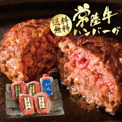 ハンバーグ 牛肉 ギフト 常陸牛 手捏ね 和風ソース 和牛 4個セット 無添加 内祝