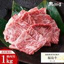 ■送料無料■福島県産黒毛和牛A-4等級 ロース 焼き肉用ドカンと1kg 焼肉セットバーベキューセット お花見ふくしまプライド