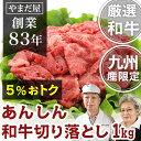 九州産 黒毛和牛(鹿児島/佐賀/長崎)A5ランク 切り落とし 1kg牛肉 国産牛 和牛 A4 5等級