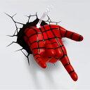 Spider Man Hand 3D Deco Light スパイダーマン 3Dデコライト ハンド ひび割れステッカー ウォールライト LED 照明 壁ライト 立体 アメコミ MARVEL マーベル コードレス おしゃれ インテリア 雑貨 アベンジャーズ AVENGERS