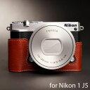 TP Original/�ƥ����ԡ� ���ꥸ�ʥ� Leather Camera Body Case �쥶�������ܥǥ������� for Nikon 1 J5 �˥���1 J5�� ������� �ܳ� �쥶�� ����饱���� ®�̥����� Classic Series Brown(�֥饦��)