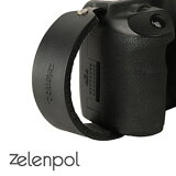 zelenpol/ゼレンポル DSLR HAND STRAP_MTB おしゃれ本革ハンドストラップ(カメラグリップ) matt black(マットブラック) レザー グリップ シンプル デザイン 長さ調節