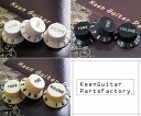 Keen Guitar Parts Factory ストラトキャスターノブ3点セット(Volumeノブ x1,Toneノブ x2) 【即納可能】【ゆうパケット対応可能】