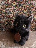 【黒猫(子猫)座り ver.】リアルな猫のぬいぐるみ【日本製】【N-SE-C】【猫のぬいぐるみ】