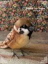 鳥 ぬいぐるみ リアル HANSA《スズメ(雀)》【N-CN-B】【鳥のぬいぐるみ】無料ラッピング 誕生日 クリスマス プレゼント