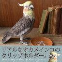 インコ リアル クリップホルダー《リアルなオカメインコのクリップホルダー》【N-MG】【鳥雑貨】【誕生日】【プレゼント】