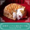 【本物そっくりに眠る茶トラ猫のぬいぐるみ】パーフェクトペット|猫のぬいぐるみ|動くぬいぐるみ|誕生日|クリスマス|プレゼント|ギフト|お見舞い|ペットロス