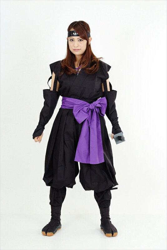 くノ一(くの一・女忍者)装束(黒・紫)kunoichi wear(woman ninja)