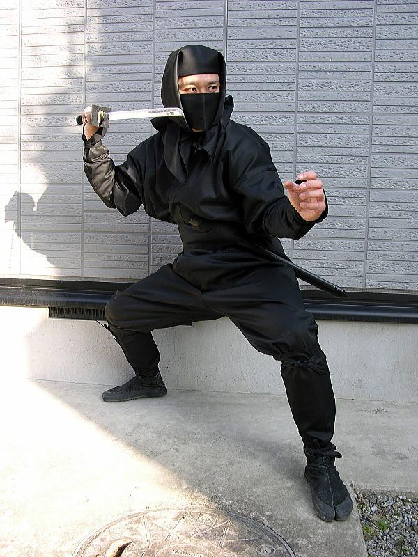 大寸・大人用忍者衣装伊賀Versionフル装備ninja wear(X-Large size)