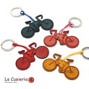 ショッピングロードバイク 直輸入 イタリア インポート ラ クオイエリア La Cuoieria レザーキーホルダー BICYCLE 自転車 レディース メンズ P354