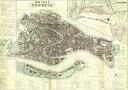 【イタリア製】 ポスター おしゃれ ヴィンテージ レトロ インテリア 世界地図 古地図 大きい ISTITUTO FOTOCROMO ITALIANO / I.F.I】 ポスター/ラッピングペーパー 50×70 MAPPA VENEZIA CR075