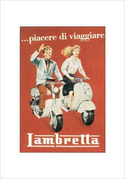 [【ISTITUTO FOTOCROMO ITALIANO / I.F.I】 ポスター33×44 LAMBRETTA MP1030] (ポスター)【ランブレッタ イタリア ビンテージポスター アートポスター インテリアポスター】【RCP】