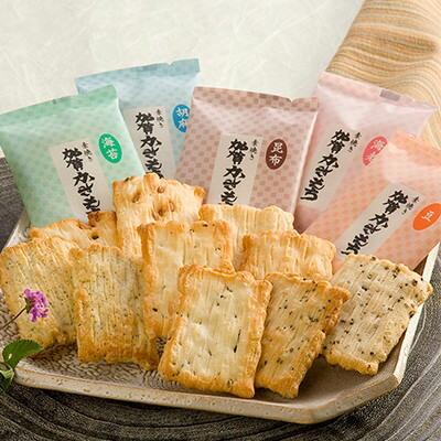和菓子加賀かきもち(素焼き)有限会社加賀かきもち丸山石川県5種類の素材の風味を引き立てる加賀地方の郷