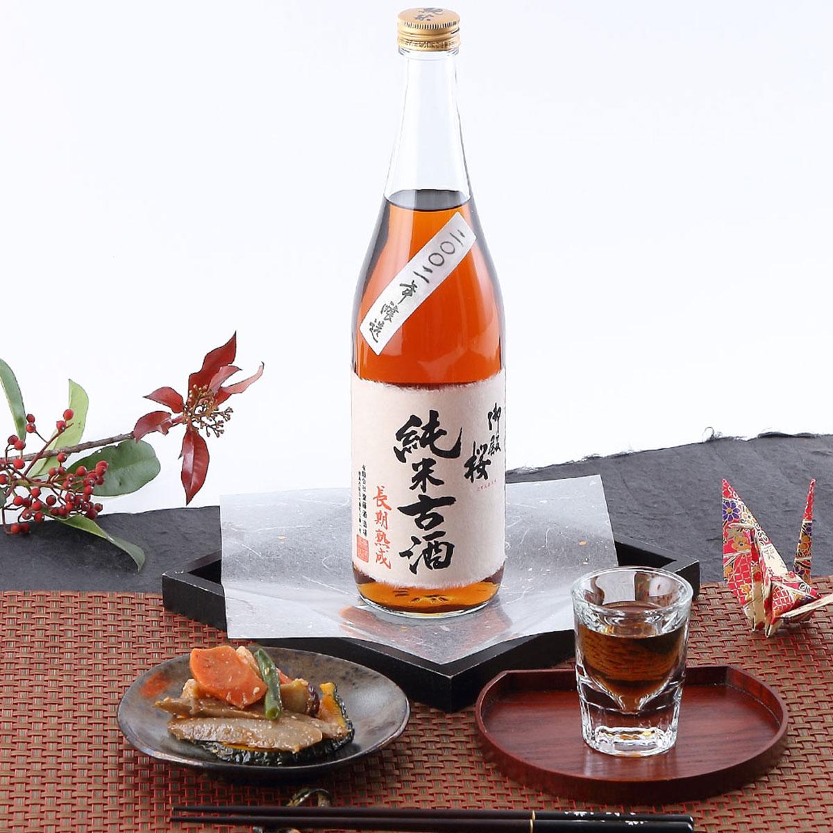 日本酒純米酒トロリとした個性的な美味しさ御殿桜純米古酒平成九年720ml齋藤酒造場徳島県