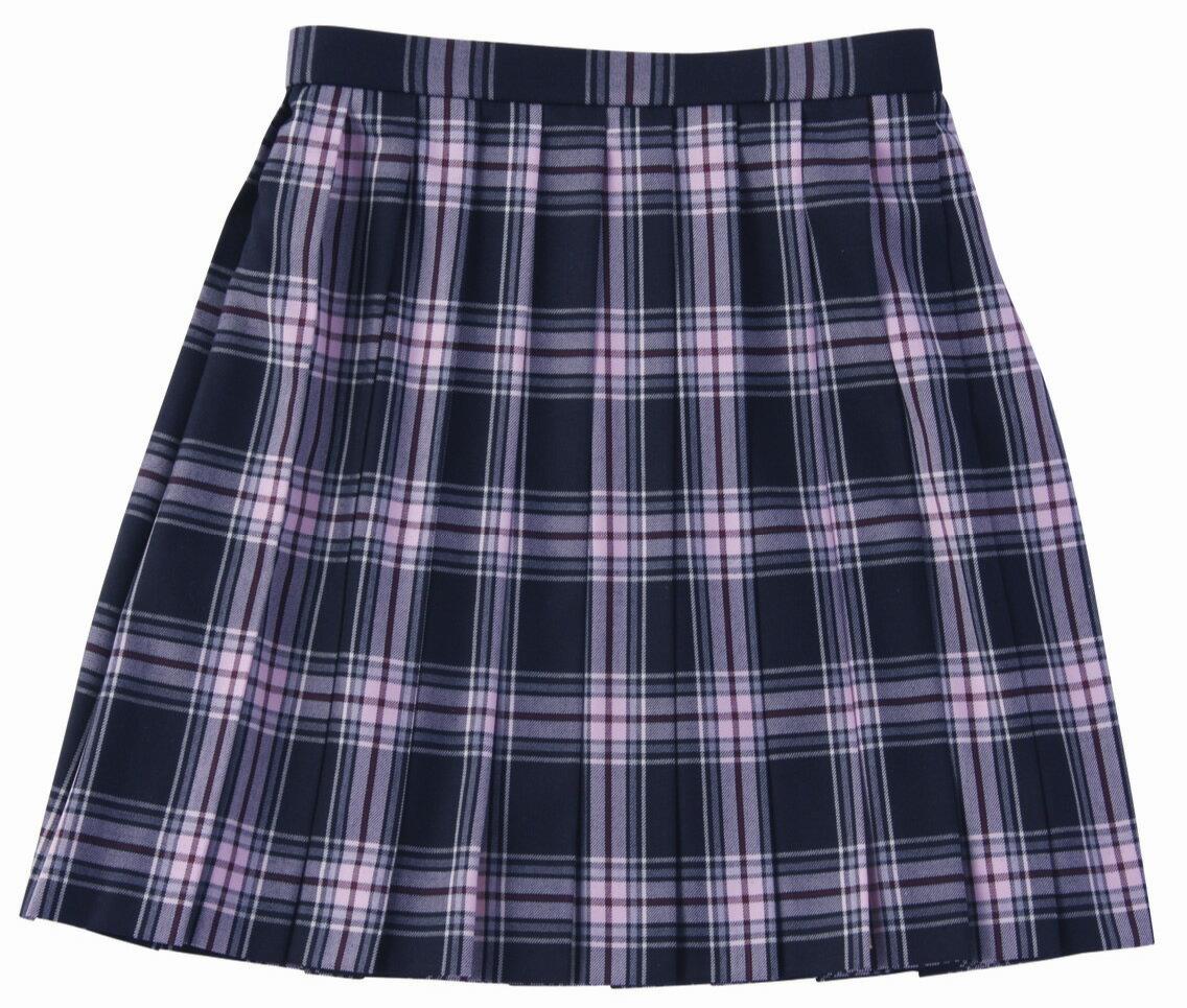 ベンクーガー スクールスカート (黒ピンク チェック・5347)