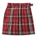 ビーステラ 制服 スカート (レッド×ホワイト・BS506)