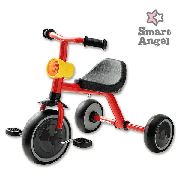 送料無料SmartAngel)三輪車funny3(レッド)[女の子男の子2歳おもちゃ子供3歳こども4