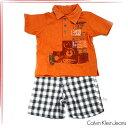 CK Calvin Klein Jeansカルバンクラインジーンズ ボーイズ ポロシャツ パンツ 2ピースセットベビー服 3672133t【RCP】【はこぽす対応商品】【コンビニ受取対応商品】