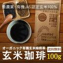 玄米コーヒー 玄米珈琲 パウダータイプ 100g (鹿児島県産 無農薬 有機JAS認定玄米100%) ギフト 西尾製茶