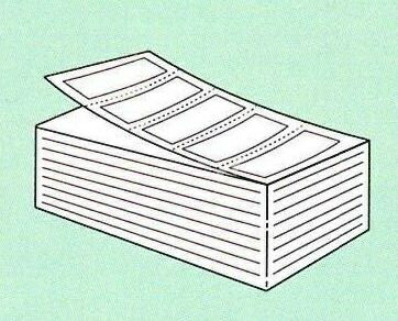 【SATO純正】PDラベル標準 白無地 強粘 【A横 折】15.000枚入【・送料無料】