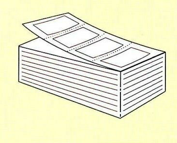【SATO純正】PDラベル標準 白無地 強粘 【B横 折】【・送料無料】
