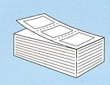 【SATO純正】PDラベル標準 白無地 強粘 【C横 折】【・送料無料】