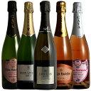 豪華クレマン入りロゼ2本入りの全てシャンパン製法スパークリング5本セット第12弾スペインワインワインセット送料無料送料込みワインセットwine ギフト プレゼント 750ML