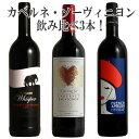 大人気品種赤ワインカベルネ・ソーヴィニヨン飲み比べ3本赤ワインワインセット赤ワインセット