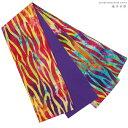【日本製】西陣こもの屋セレクト【綿の半巾帯*コットン100%】リバーシブル半幅帯赤、黄色、黄緑、水色、紫、ゼブラ柄