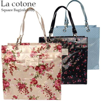 Floral print oilcloth square bag La cotone (Koto sounds) square bag and dot pattern 9 nice petite et ♪ kinda outing to, put your wallet, keys and mobile recommended size